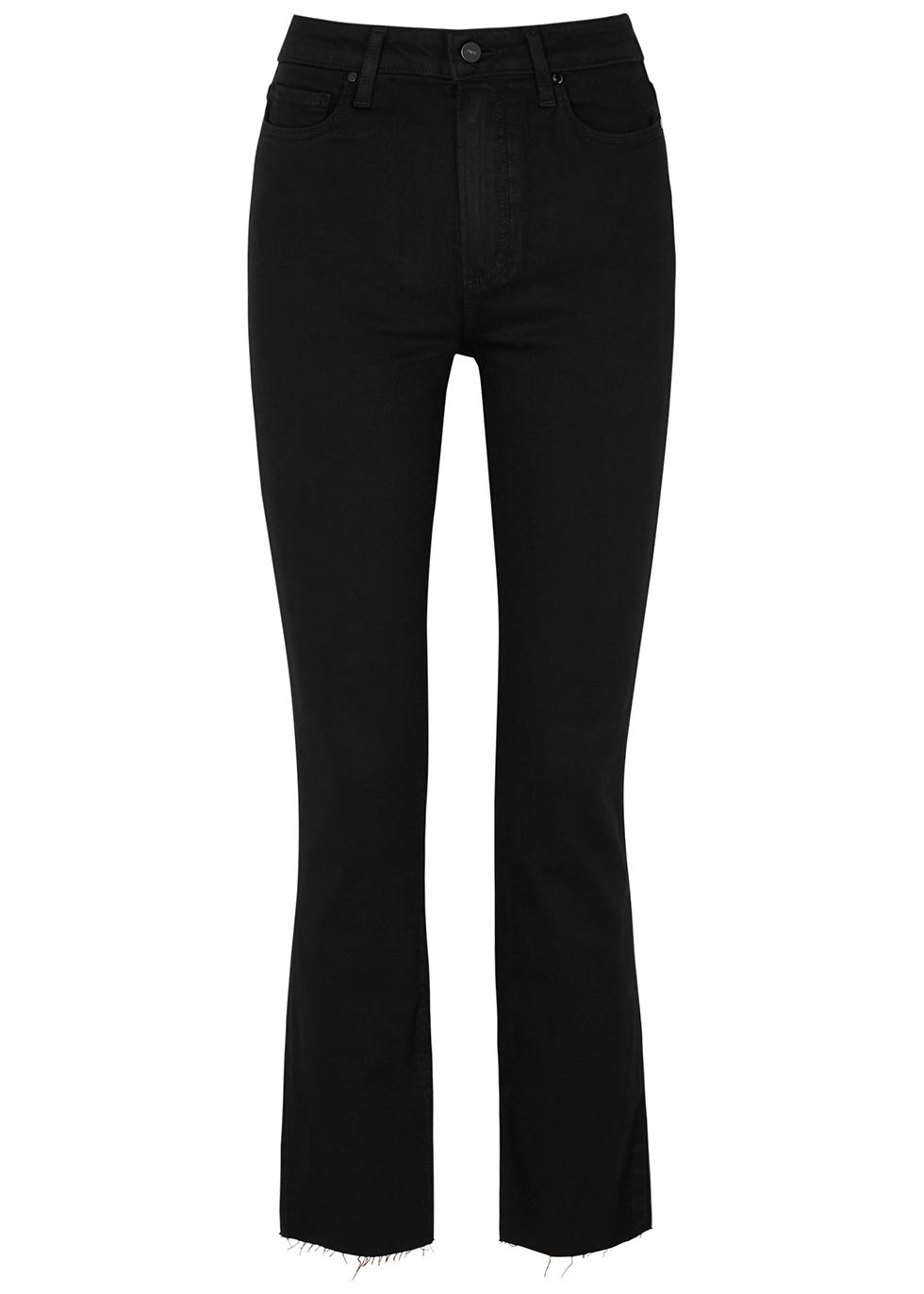 Cindy Transcend black straight-leg jeans