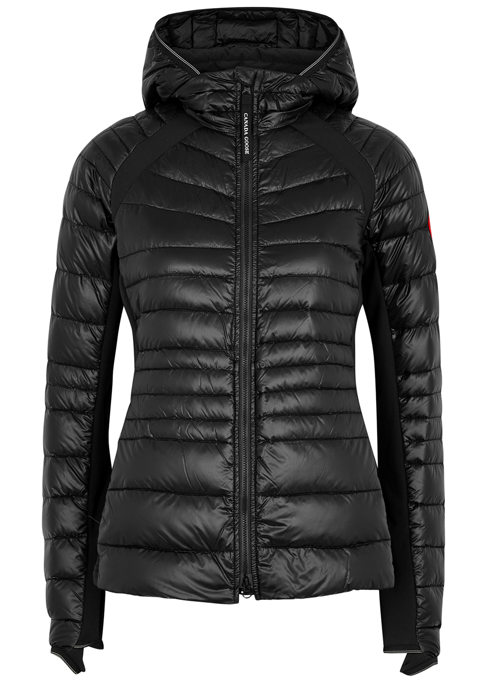 Hybridge Lite black quilted shell jacket