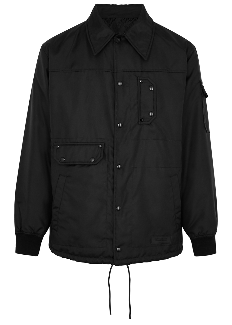 Black reversible nylon jacket