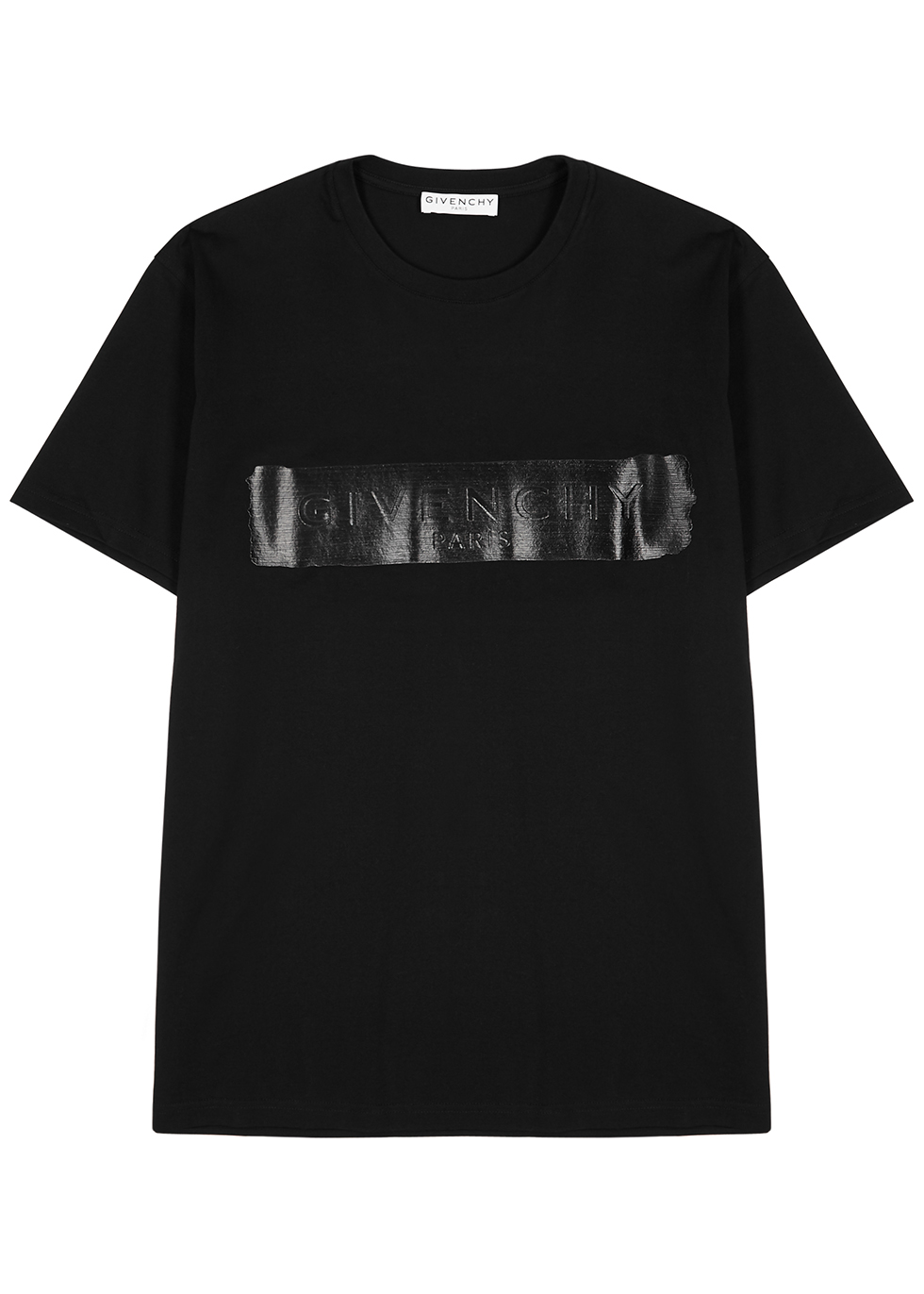 Black logo-print cotton T-shirt