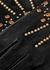 Lee black studded suede gloves - AGNELLE