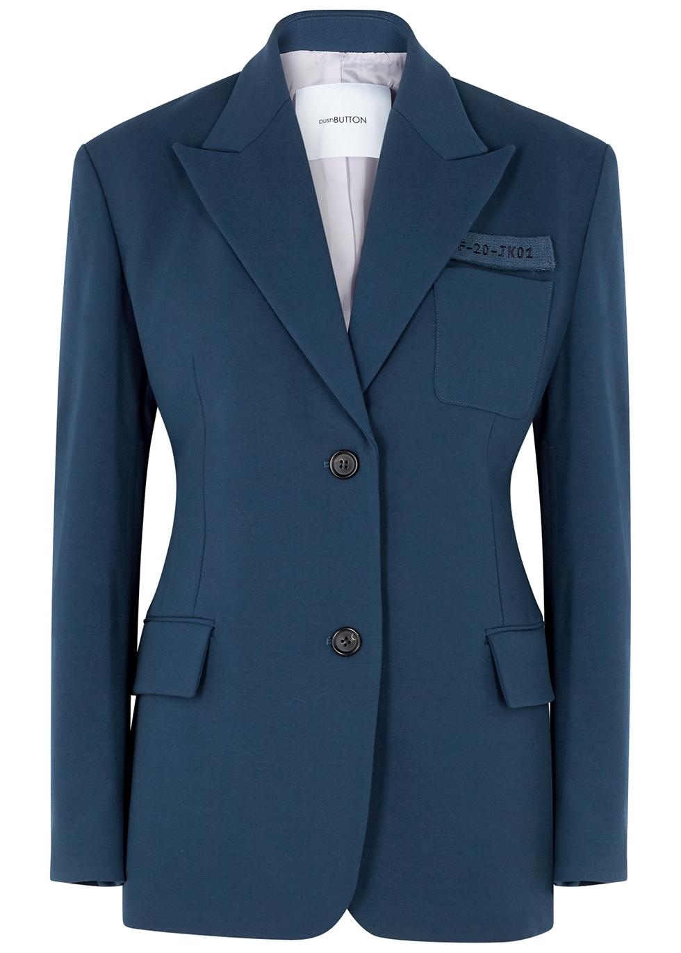 Dark blue cady blazer