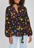 Moss black printed silk blouse - RIXO