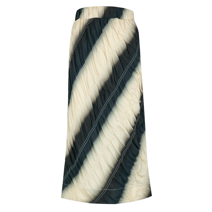3.1 Phillip Lim PRINTED SATIN MIDI SKIRT