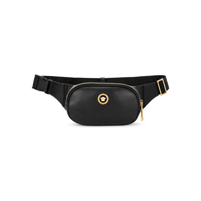 Versace BLACK LEATHER BELT BAG