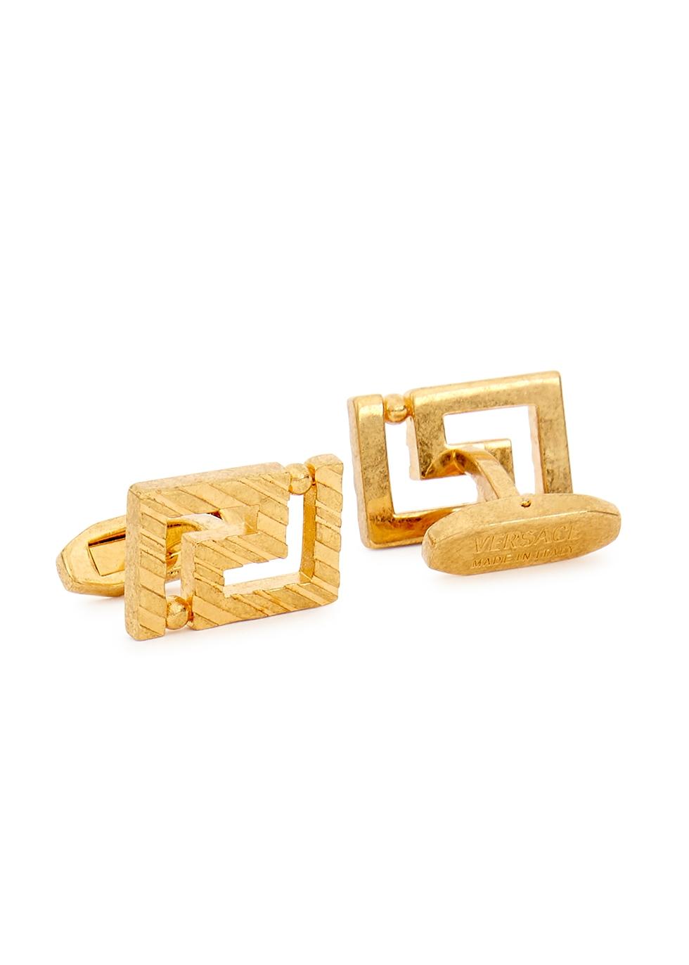 Greco gold-tone cufflinks