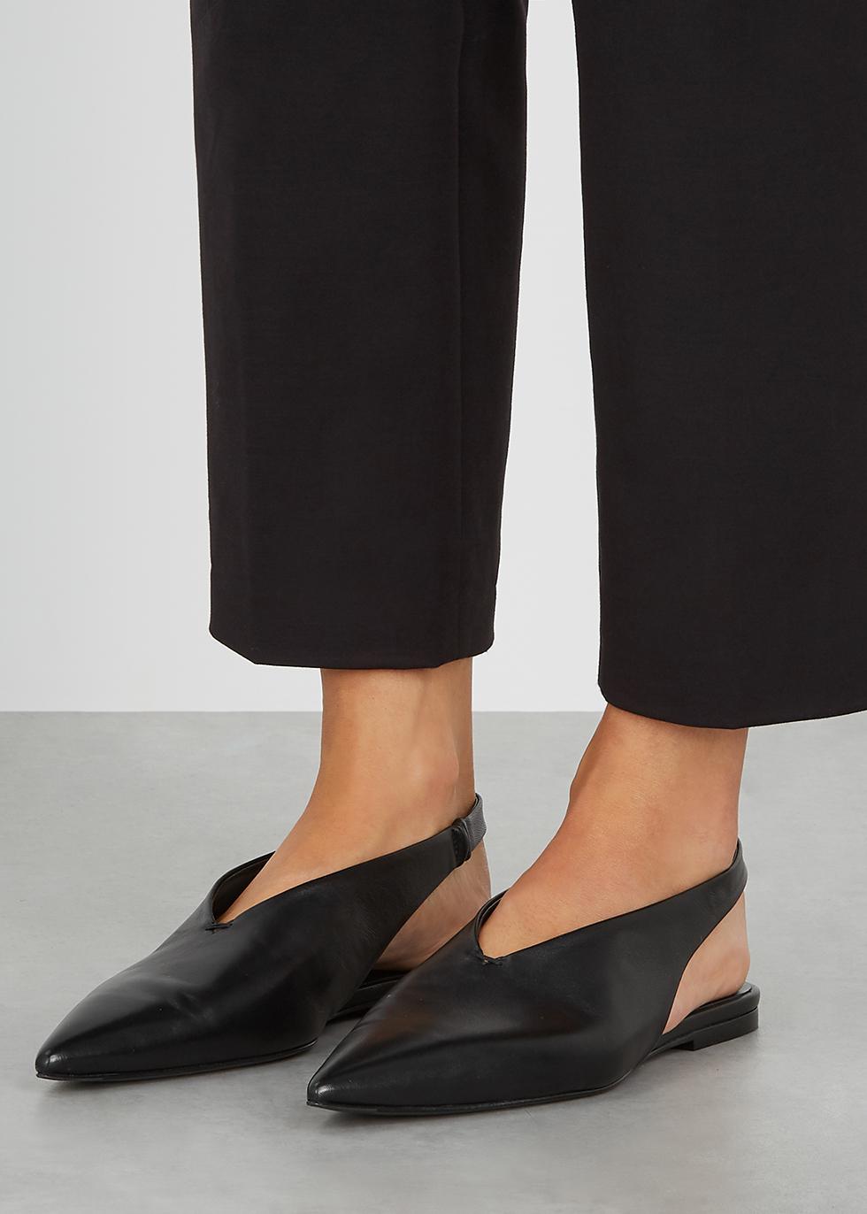 Jil Sander Black slingback leather