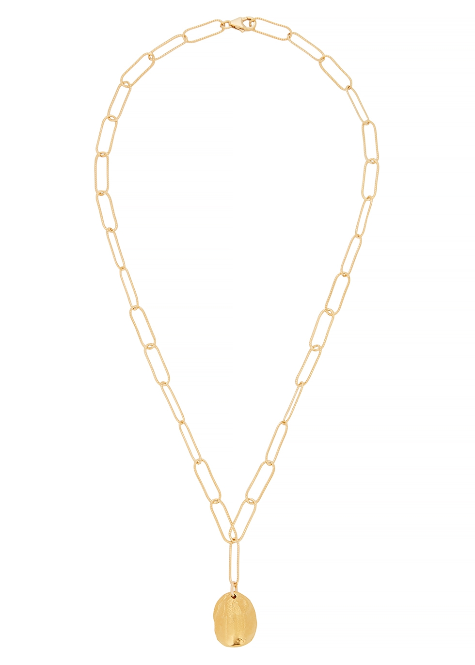 The Clairvoyant 24kt gold-plated necklace