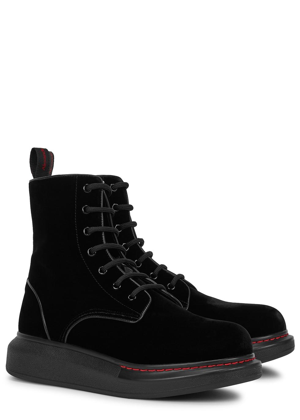 black velvet ankle boots - Harvey Nichols