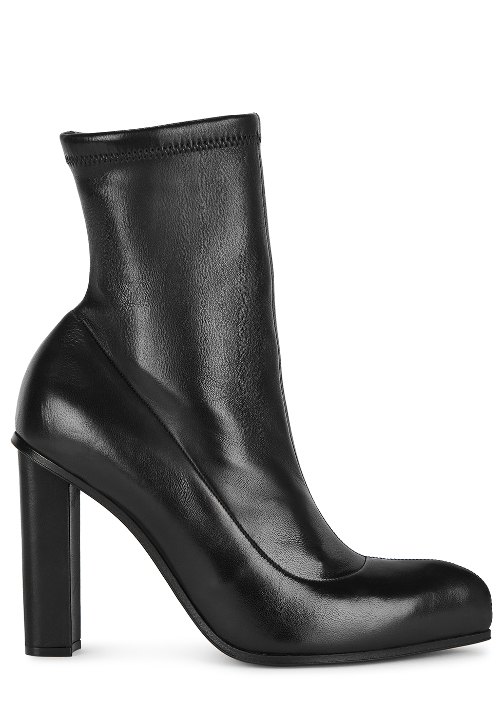 100 black leather ankle boots