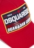Red embroidered twill cap - Dsquared2