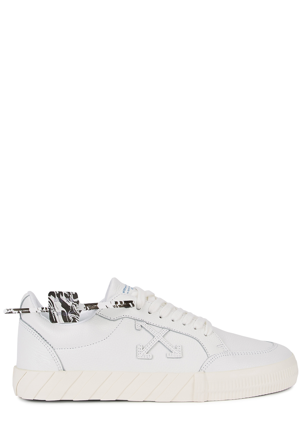 Low Vulcanized white leather sneakers