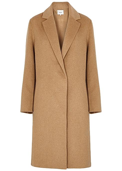 Camel wool-blend coat - Vince