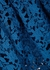 Azaelea blue guipure lace midi dress - Self-Portrait