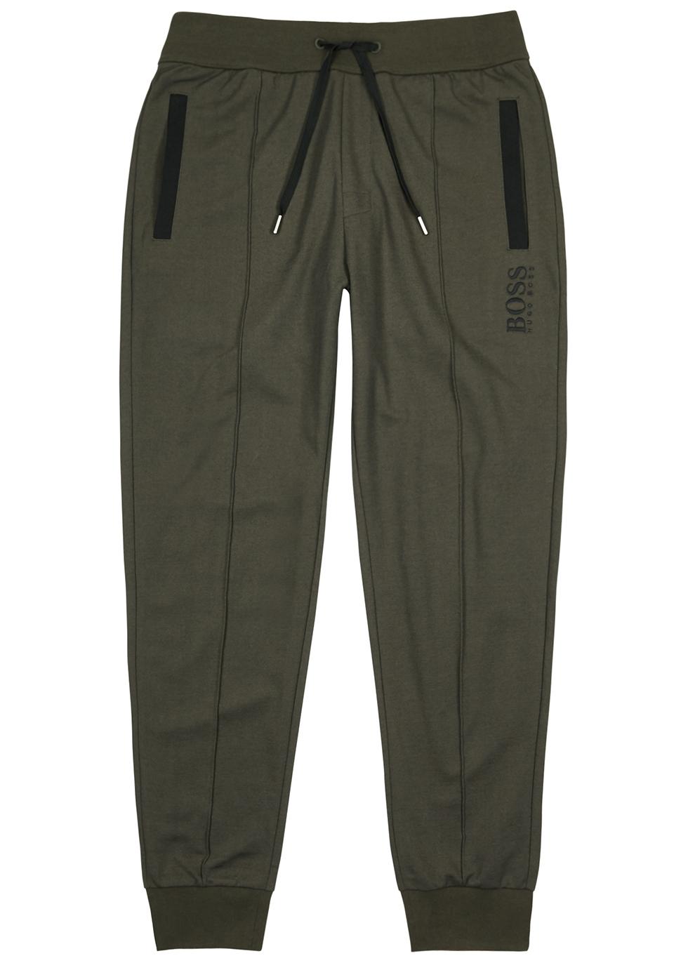 Army green jersey sweatpants