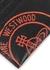 Kent black logo-print leather card holder - Vivienne Westwood