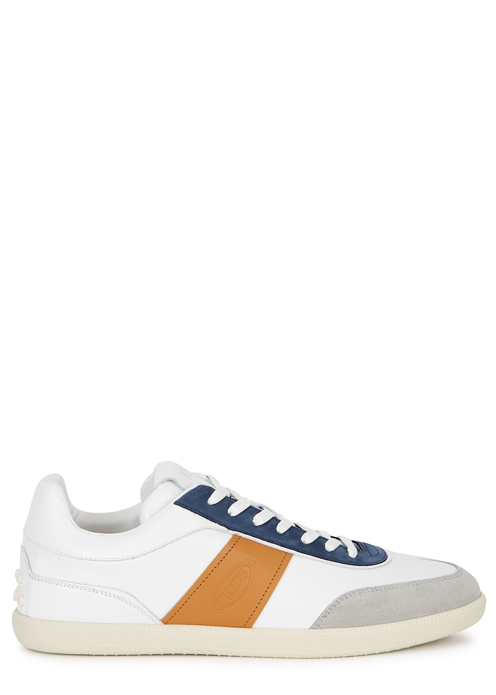 Cassetta white leather sneakers