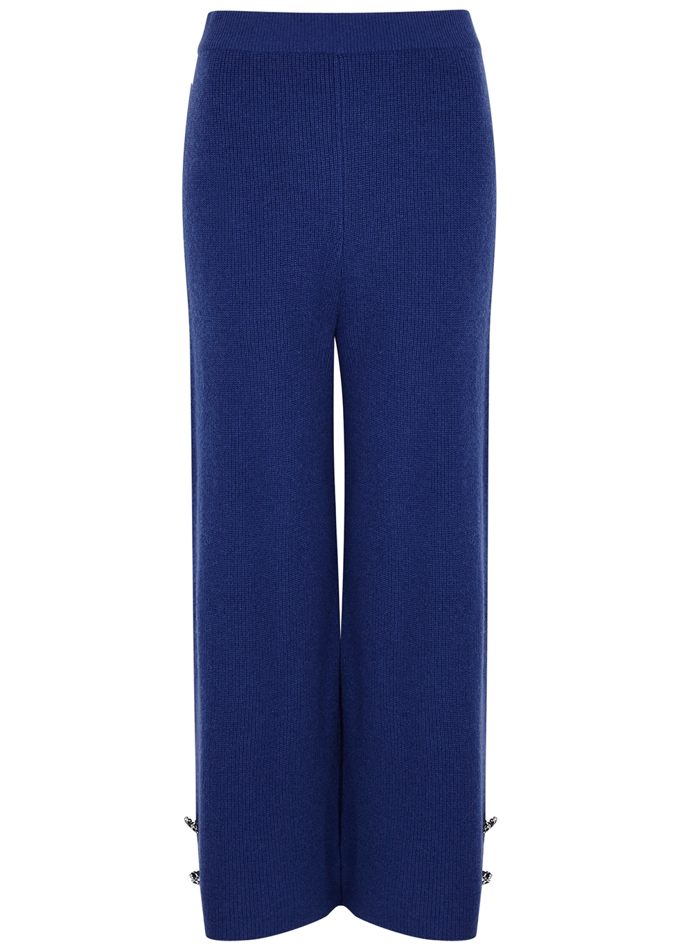 Blue wool and cashmere-blend culottes