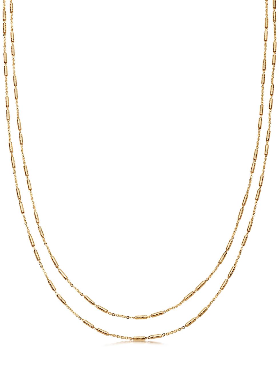 Vervelle Double Chain 18kt gold vermeil necklace
