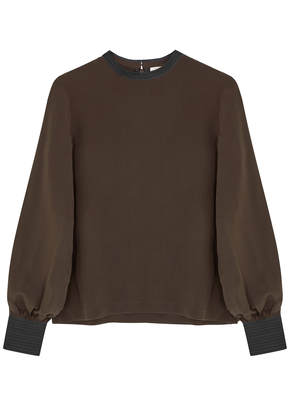 Brown silk blouse