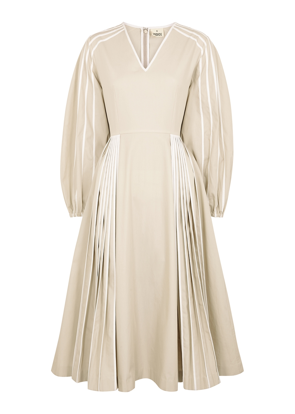 Cream cotton midi dress
