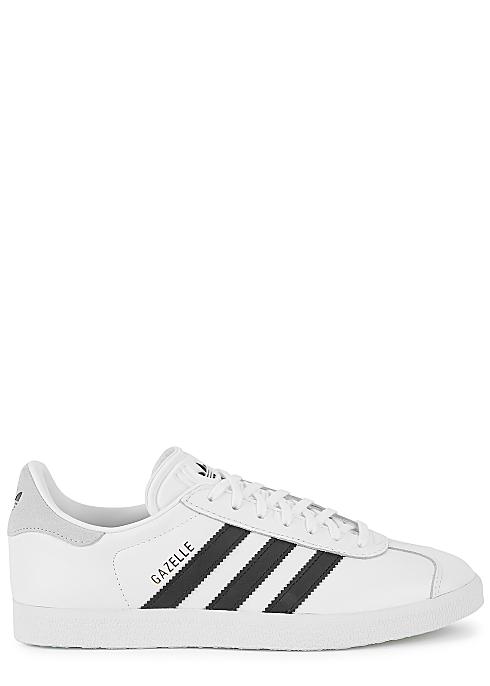 Estación de ferrocarril Gracias buscar  ADIDAS ORIGINALS Gazelle white leather sneakers - Harvey Nichols