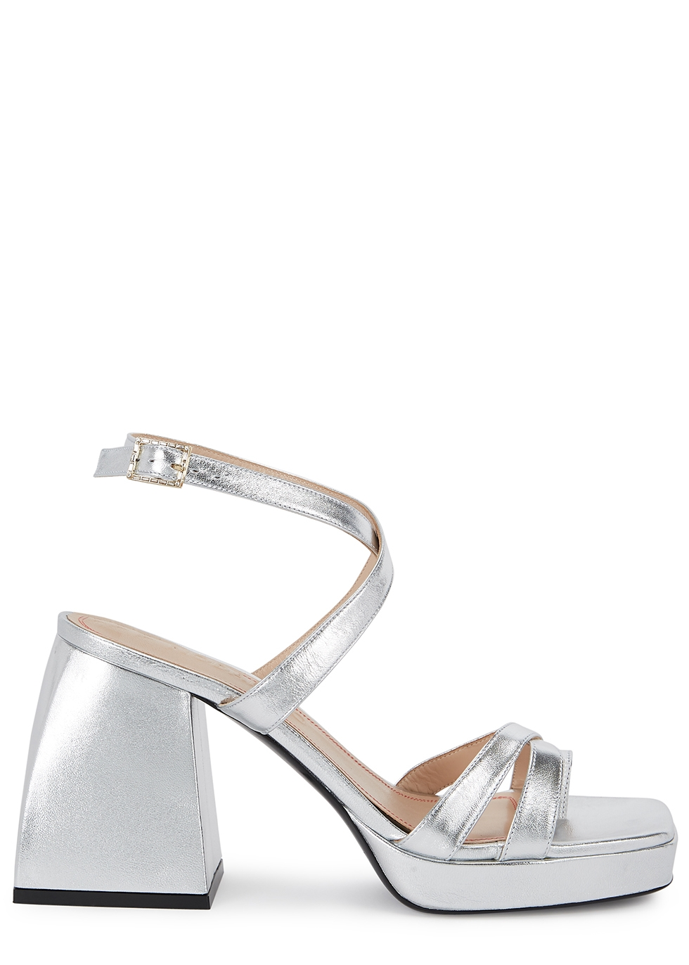 Bulla Siler 85 silver leather sandals