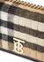 Lola small checked cashmere and leather shoulder bag - Burberry