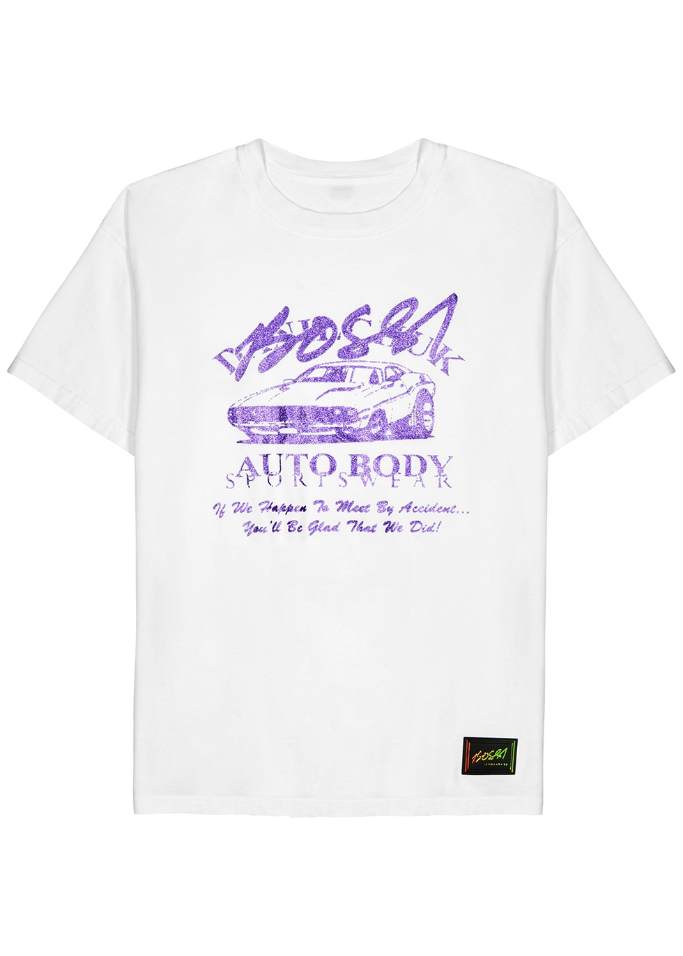 Accident printed reversible cotton T-shirt