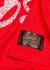 Red logo-embellished reversible cotton T-shirt - BOSSI Sportswear