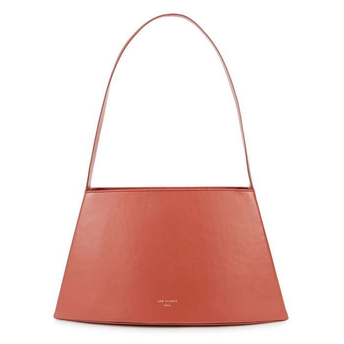Low Classic CURVE ROSE LEATHER SHOULDER BAG
