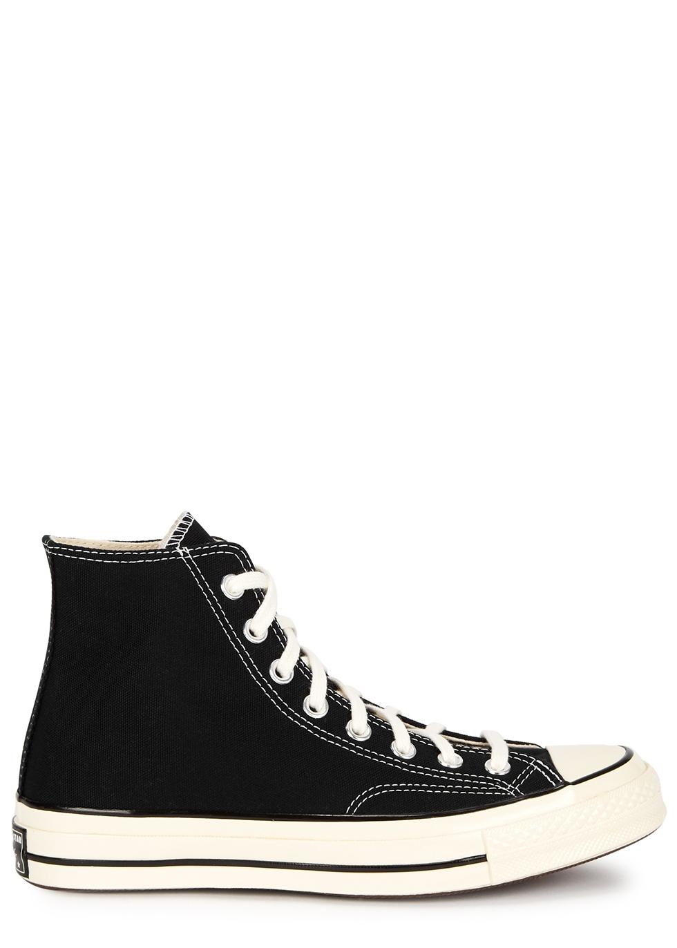 Chuck 70 black canvas hi-top sneakers