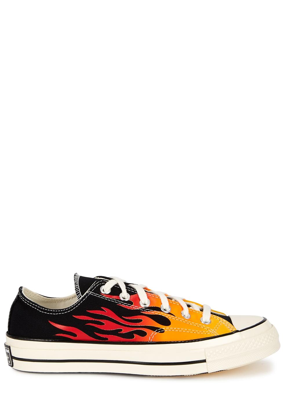 Converse Chuck 70 flame-print canvas