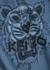 Blue tiger-print cotton T-shirt - Kenzo