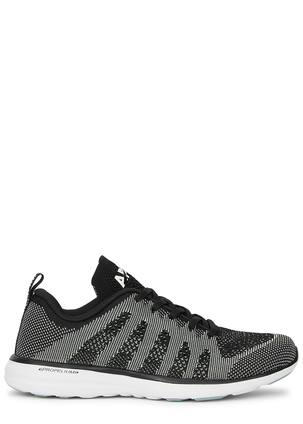 Techloom Pro metallic-weave knitted sneakers