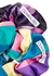 Connie printed satin scrunchies - set of two - Olivia Rubin