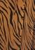 Florian brown tiger-print wrap dress - Faithfull The Brand
