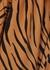 Marissa brown tiger-print wrap dress - Faithfull The Brand
