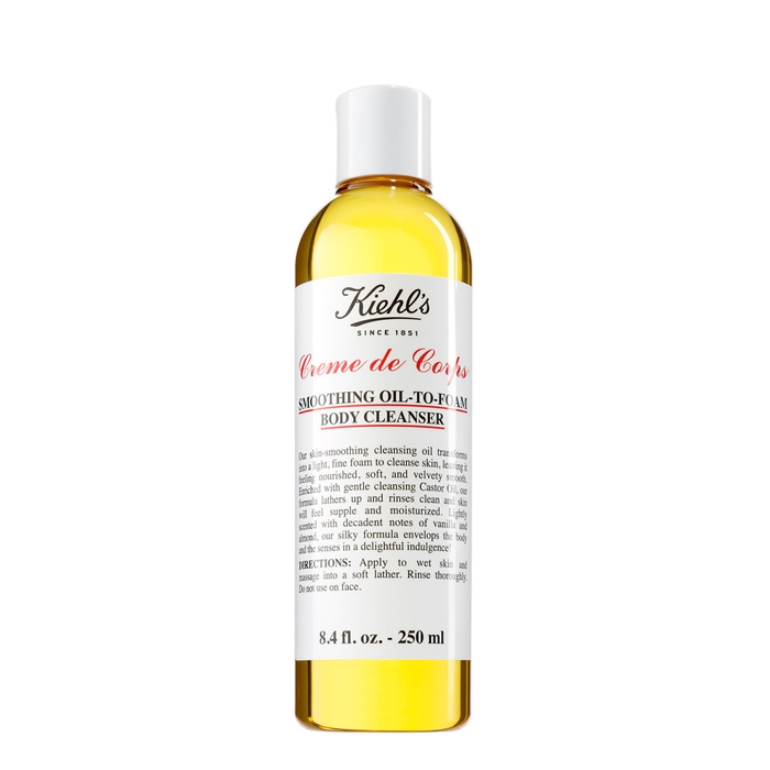 Kiehl's Since 1851 Kiehl's Crème De Corps Smoothing Oil To Foam Body Cleanser (250 Ml) In White