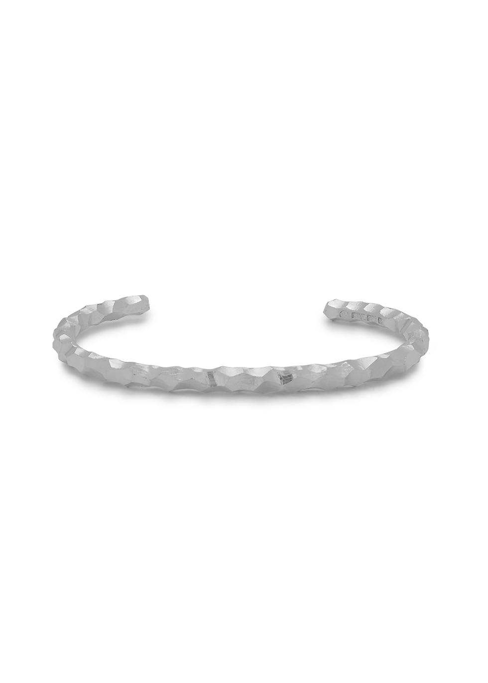 Snake sterling silver cuff bracelet