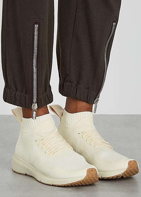 Sacrificio Persona repentino  Rick Owens X Veja off-white stretch-knit sneakers - Harvey Nichols