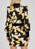 Rianna printed satin wrap dress - De La Vali