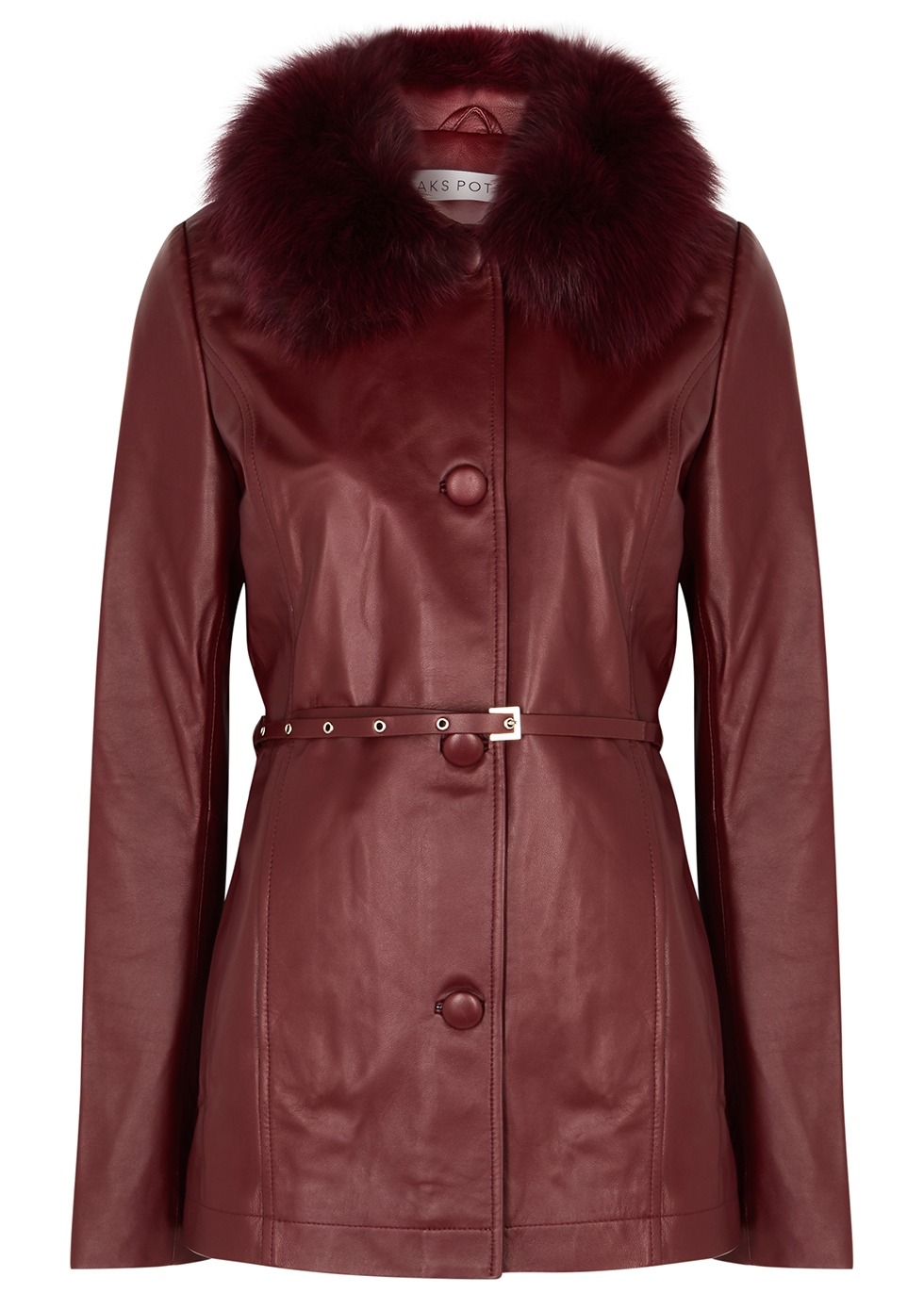 Cholet fur-trimmed leather jacket