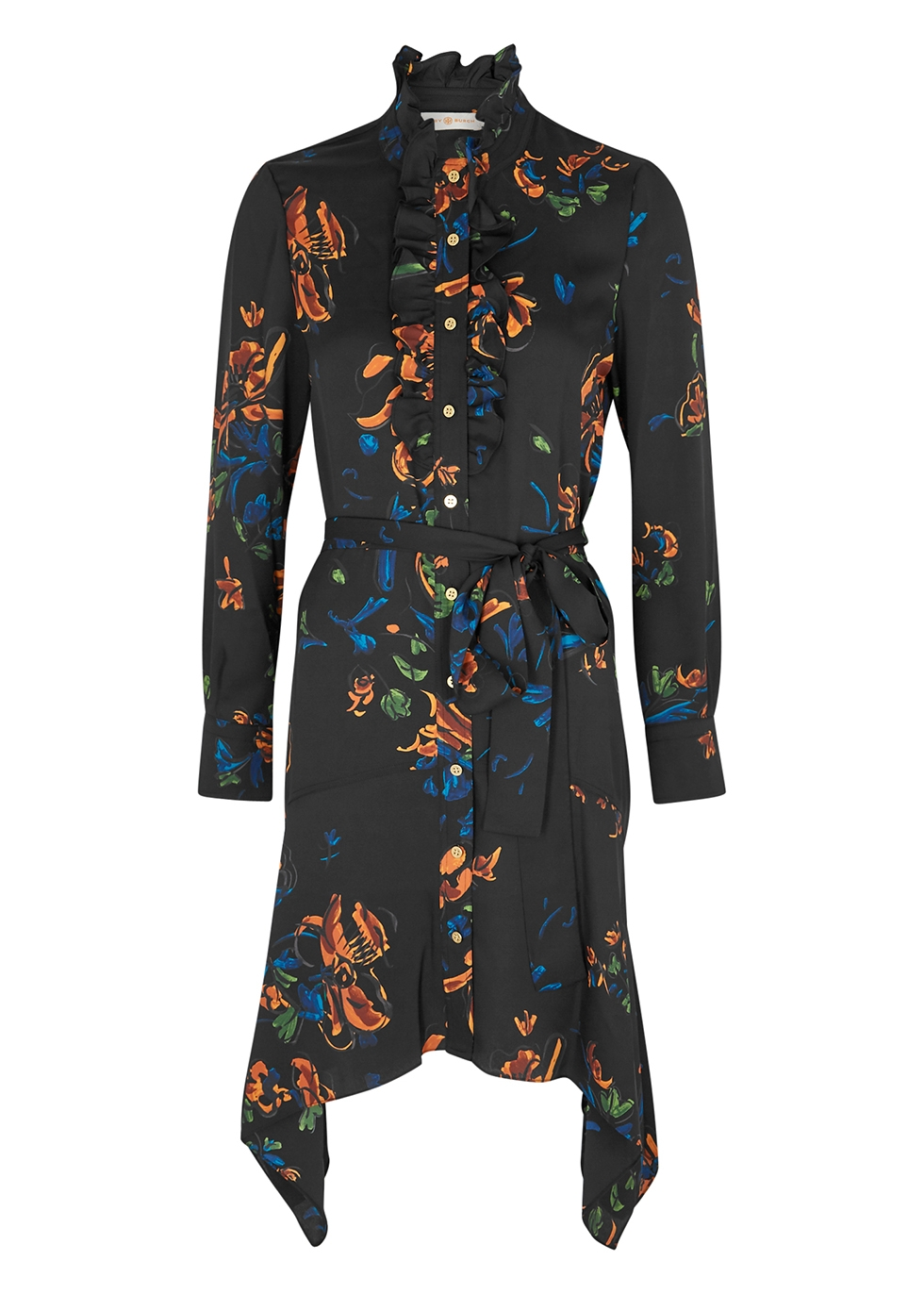 Cora floral-print shirt dress