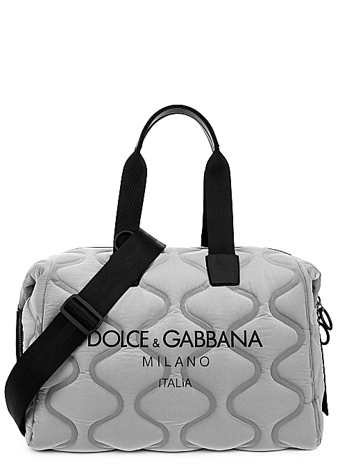 Palermo Tecnico grey quilted nylon holdall - Dolce & Gabbana