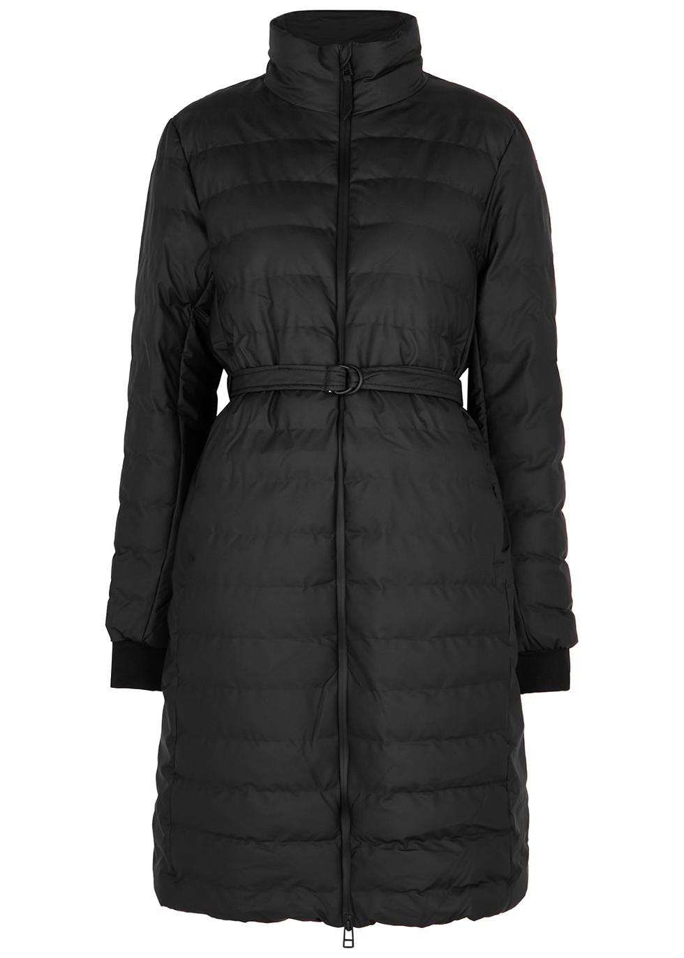 Trekker black rubberised shell coat