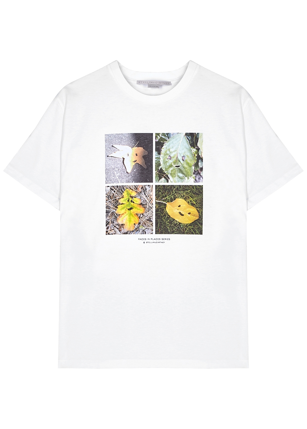 Faces In Places printed cotton T-shirt