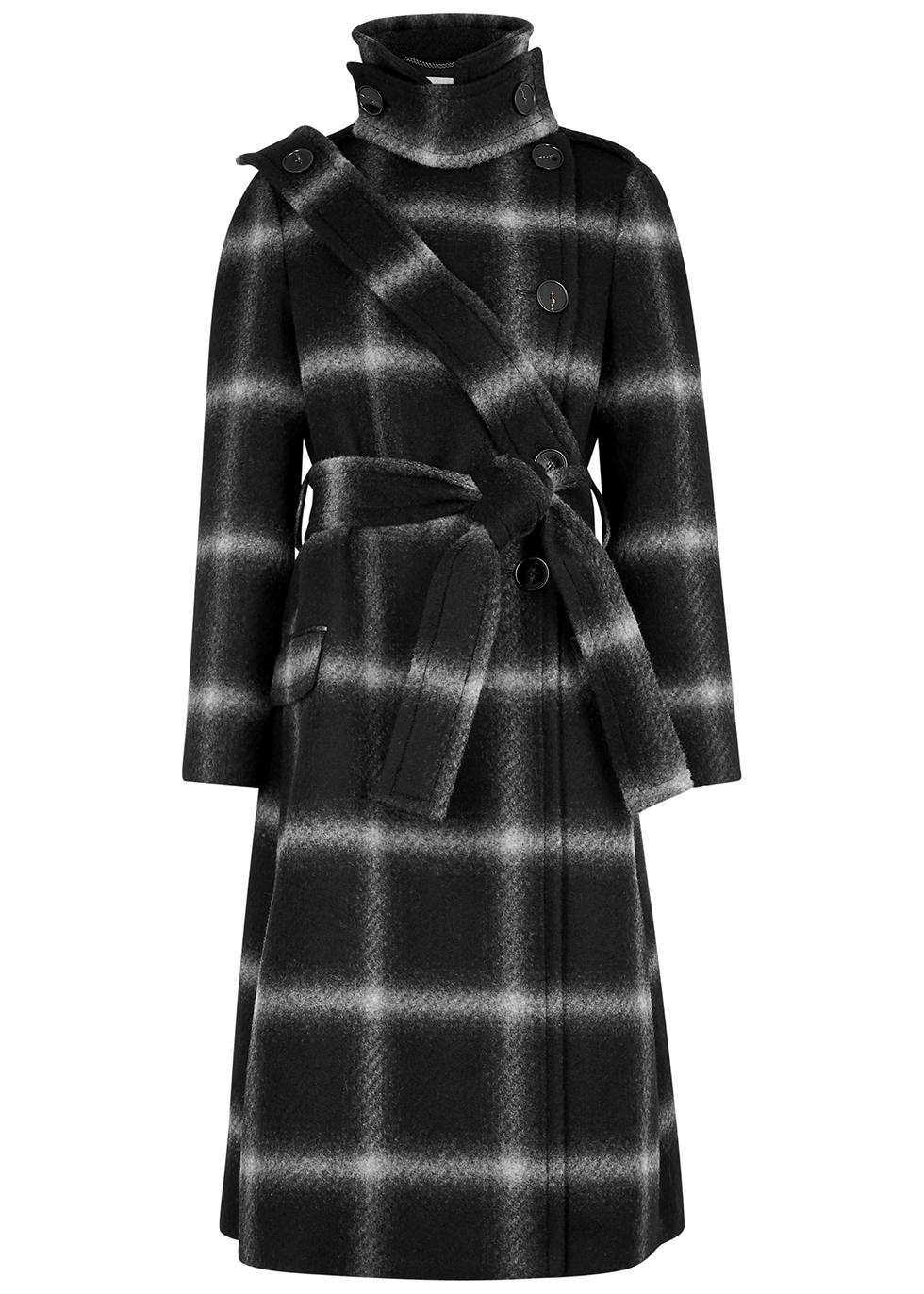 Sophia checked wool coat