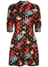 Mini short sleeve maybe dress in black floral print - Traffic People