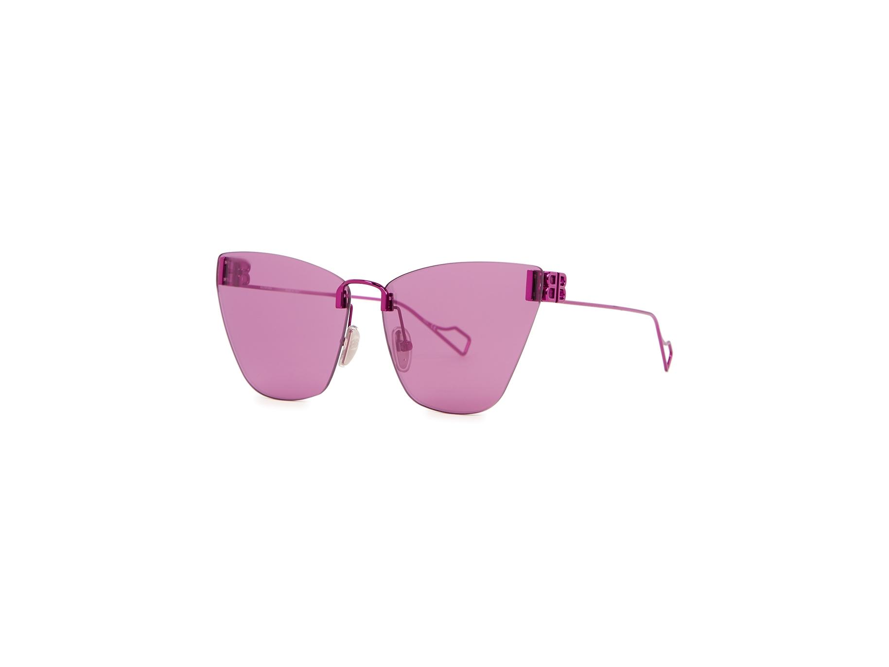 Balenciaga Purple Cat Eye Sunglasses Harvey Nichols